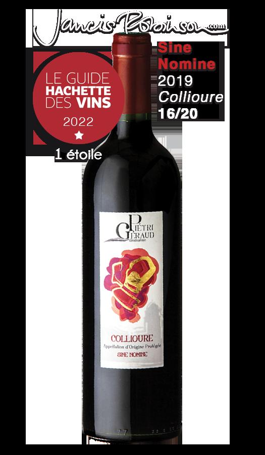 "Collioure rouge ""Sine Nomine"" Domaine Piétri Géraud"