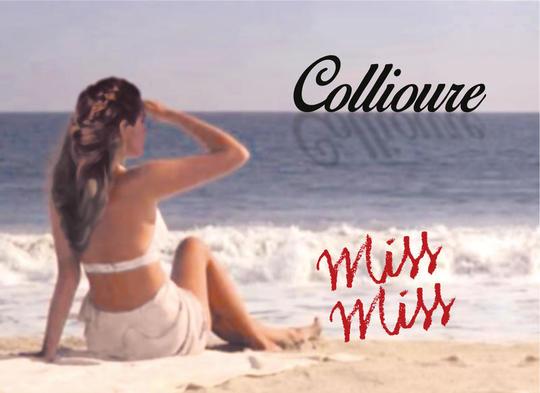Etiquette Collioure rouge Miss Miss Domaine Pietri Geraud