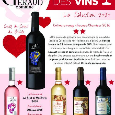 Sélection Guide Hachette des vins 2020 Domaine Piétri Géraud