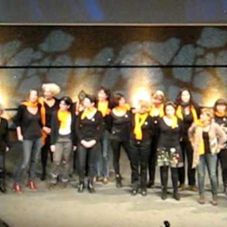 Remise de prix aux Vinifilles, Montpellier le Corum mardi 13 décembre 2011.AVI